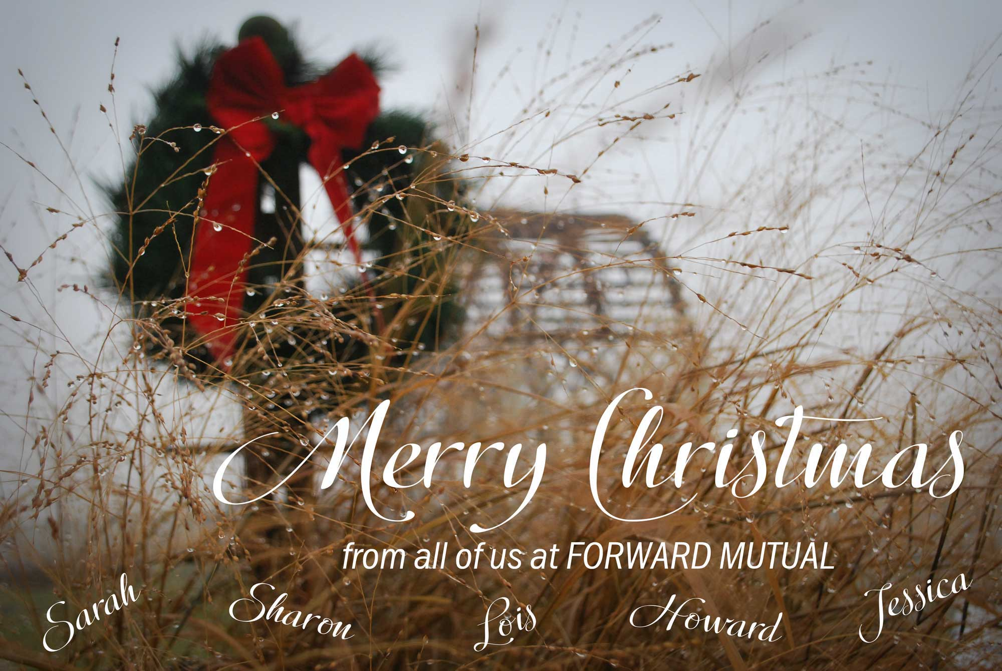 Merry Christmas from Forward Mutual Insurance Company, Ixonia, WI
