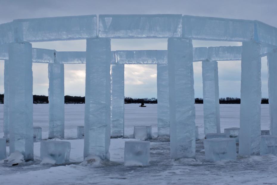 Icehenge on Rock Lake, Lake Mills, WI