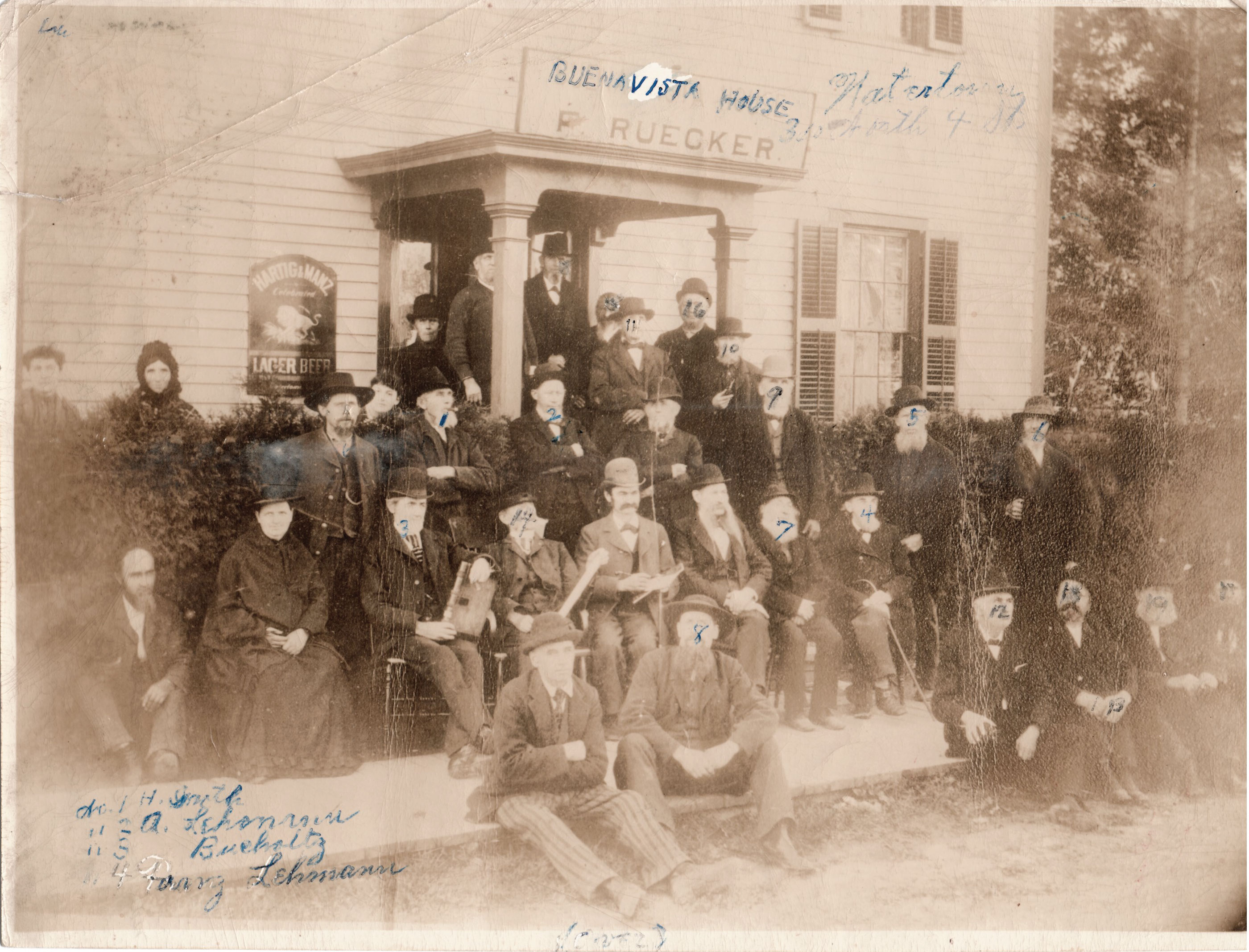 Founding Fathers of Watertown Mutual Insurance Co, Watertown, WI. Circa 1875-76.