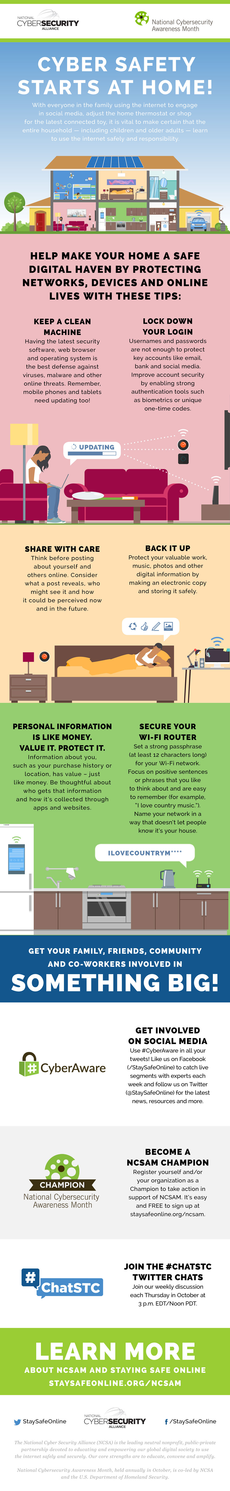Cyber Safety Starts at Home inforgraphic